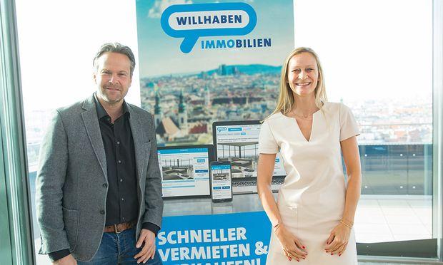 Thomas Wollner und Judith Kössner beim Immobilien-Frühstück.