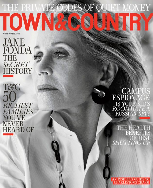 Jane Fonda for Town & Country. Photo: Max Vadukul/Town & Country
