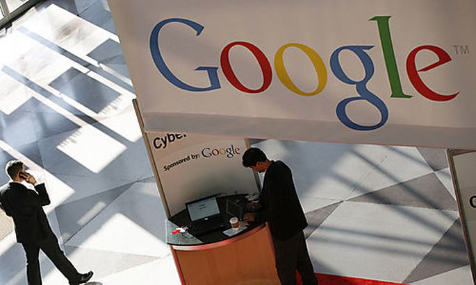 In this photo made Monday, Jan. 11, 2010, a Google logo is displayed at the National Retail Federatio