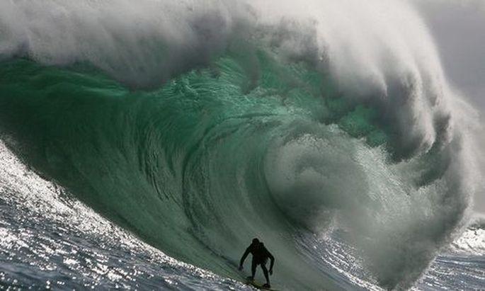 Wellenreiter in Südafrika.