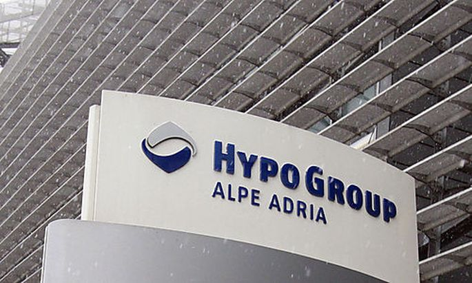 Outside view of the headquarters of Hypo Alpe Adria Bank in Klagenfurt, Austria on Monday, Dec. 14, 2