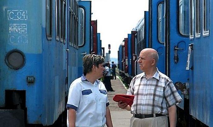 ROMANIA RAILWAY WORKERS STRIKE STRIKE