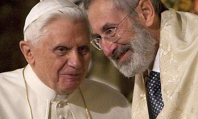 Benedikt XVI und Riccardo Di Segni