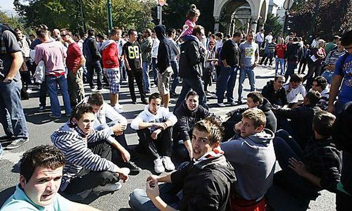 Strassenblockade in Sarajevo