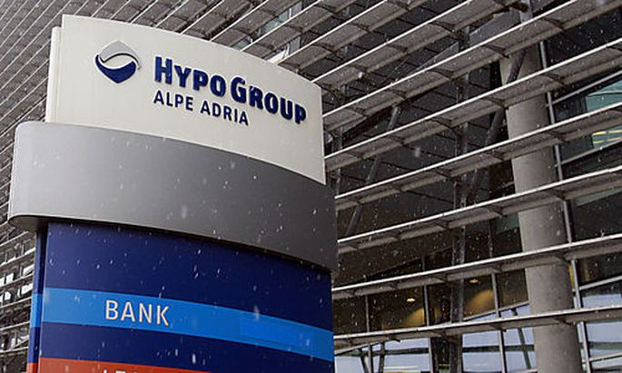FILE - Outside view of the headquarters of Hypo Alpe Adria Bank in Klagenfurt, Austria on Monday, Dec