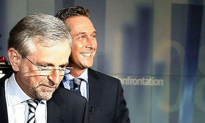 Molterer und Strache vor dem ORF-TV-Duell
