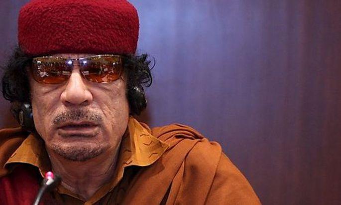 Der libysche Staatschef Muammar al-Gaddafi