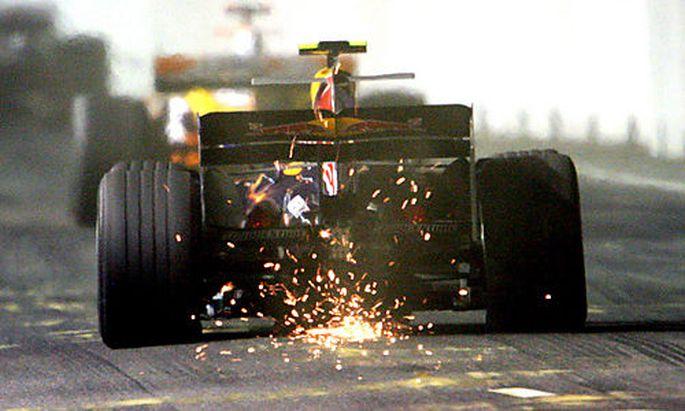 Mark Webber beim Grand Prix in Singapur