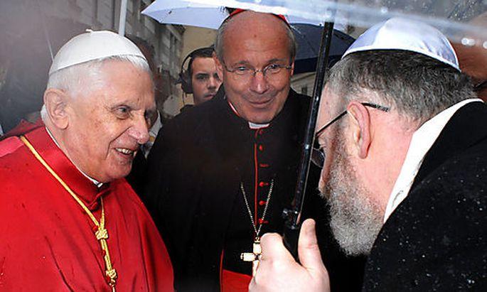 Archivbild: Papst Benedikt XVI. und Oberrabbiner Eisenberg in Wien