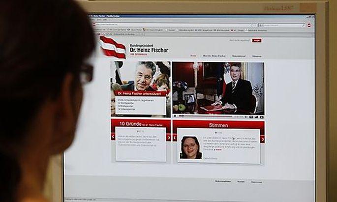 Heinz Fischer kandidiert per Video