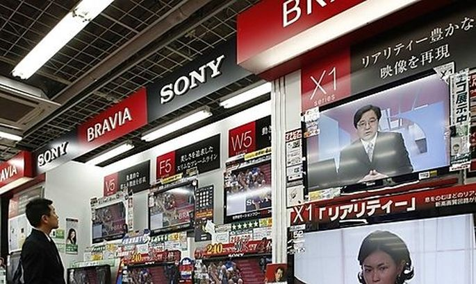 Sonys TV sets are displayed at an electronic shop in Tokyos TV sets are displayed at an electronic shop in Tokyo