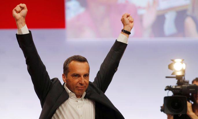 """Noch ist für die SPÖ nichts gewonnen, noch ist nichts verloren. Christian Kern verspricht beim Wahlkonvent: """"Ich werde kämpfen."""""""