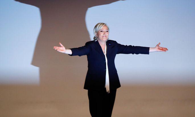 Marine Le Pen ist in der Favoritenrolle für den ersten Wahlgang der Präsidentenwahl.