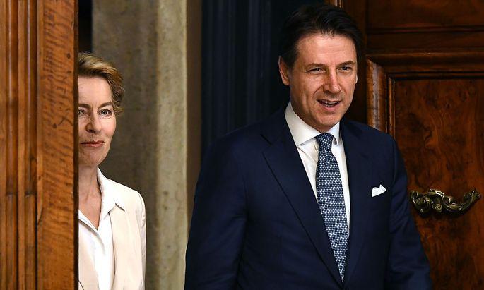 Am Freitag besuchte die designierte EU-Kommissionspräsidentin von der Leyen den italienischen Regierungschef.