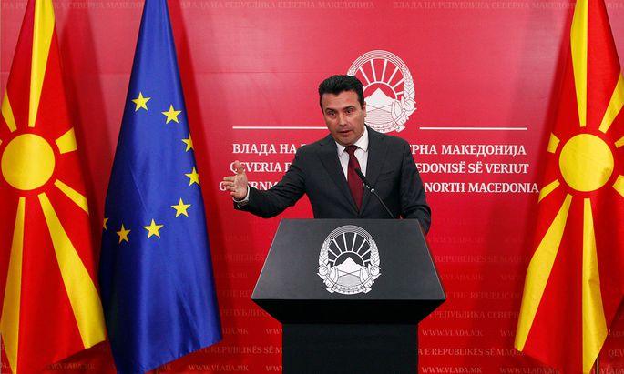 Nordmazedoniens Premier Zoran Zaev.