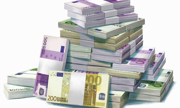 Gro�er Haufen von Euro Banknoten PUBLICATIONxINxGERxSUIxAUTxONLY MartxKlein 20830014