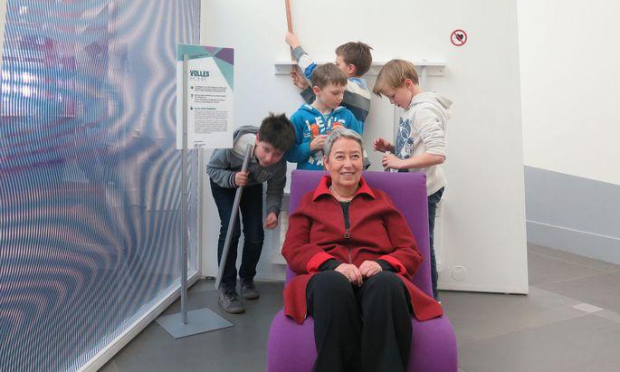 Margit Fischer im Ringturm – die Enkel experimentieren gerade anderswo.