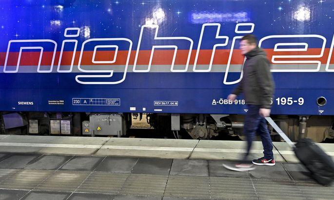 Premierenfahrt eines ÖBB-Nightjet von Wien nach Brüssel