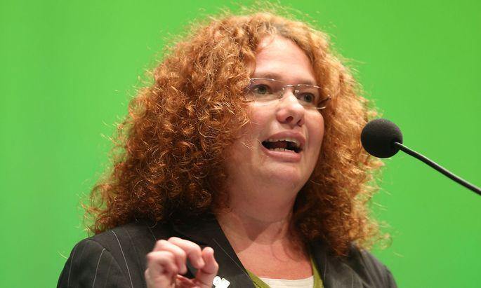 Archivbild: Monika Vana bei einem Grünen-Bundeskongress 2013