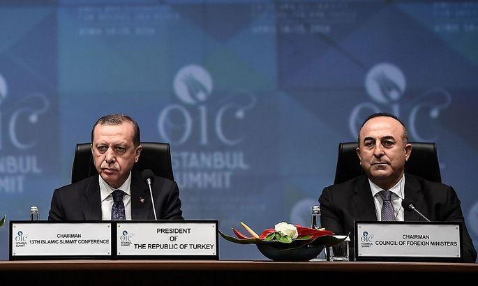 Präsident Erdogan, Außenminister Cavusoglu