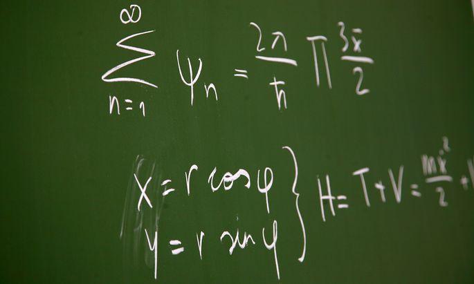 Formel auf einer Tafel