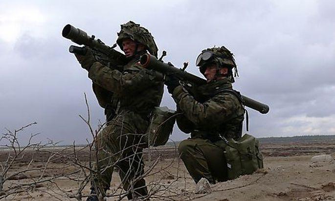 Polnische Soldaten mit
