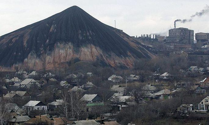 Blick auf Donezk