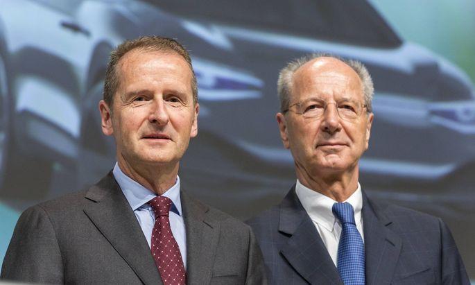 VW-Chef Herbert Diess und AR-Chef Hans Dieter Pötsch bleibt Prozess erspart