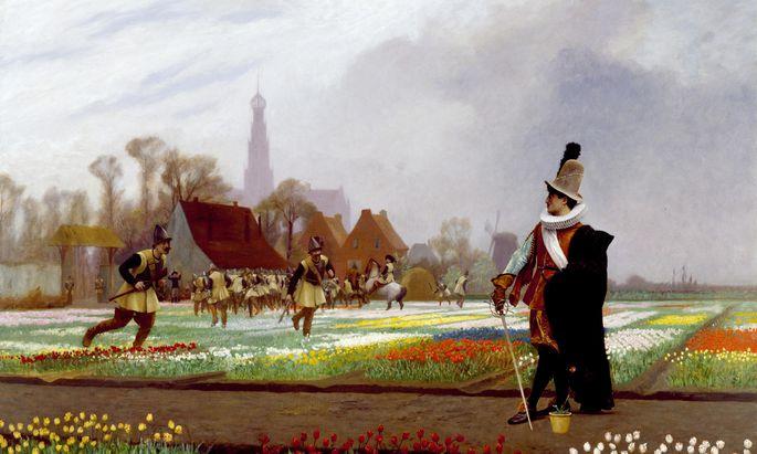 """""""The Tulip Folly"""" von Jean-Léon Gérôme entstand rund 150 Jahre nach der historischen Manie."""