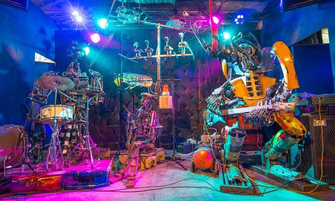 The One Love Machine Band by Kolja Kugler, auf der Maker Faire Vienna 2016 zu sehen