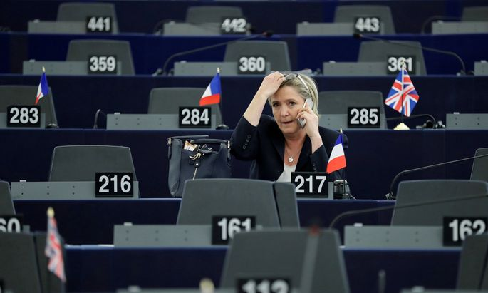 Marine Le Pen, French National Front (FN) political party leader and Member of the European Parliament, attends the election of the new President of the European Parliament in Strasbourg
