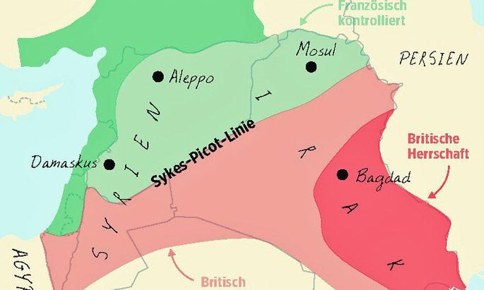 Karte: Sykes-Picot