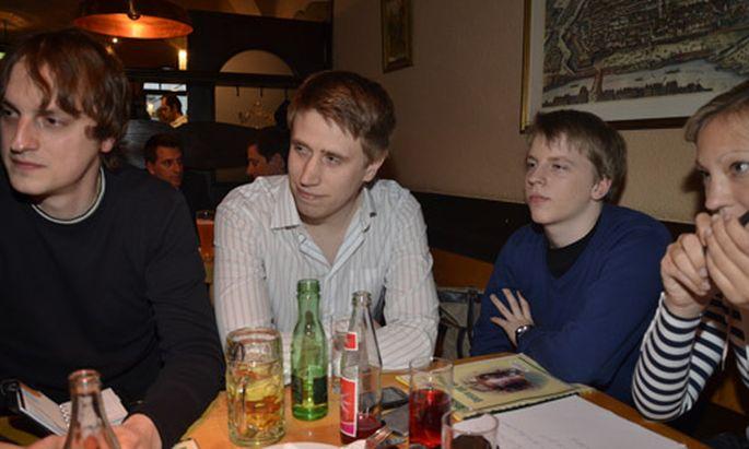 Die Junge Volkspartei bei ihrem Treffen im