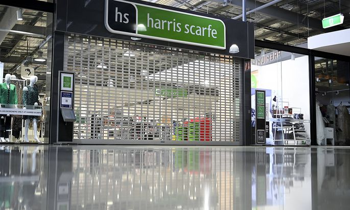 ACT CORONAVIRUS COVID19, A closed retail shop is seen at the Canberra Outlet Centre in Canberra, Thursday, September 9,