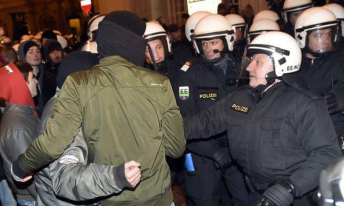 Pegida-Kundgebung in Wien vom 2. Februar