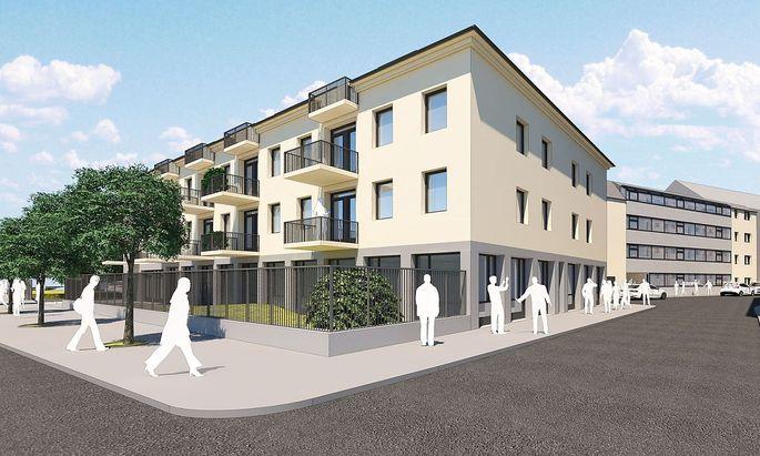 Visualisierung des geplanten Wohlmetzbergervierterls in St. Pölten