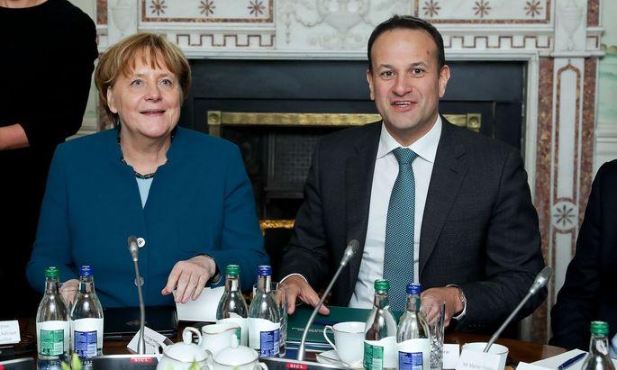 Bundeskanzlerin Angela Merkel und Irlands Ministerpräsident Leo Varadkar