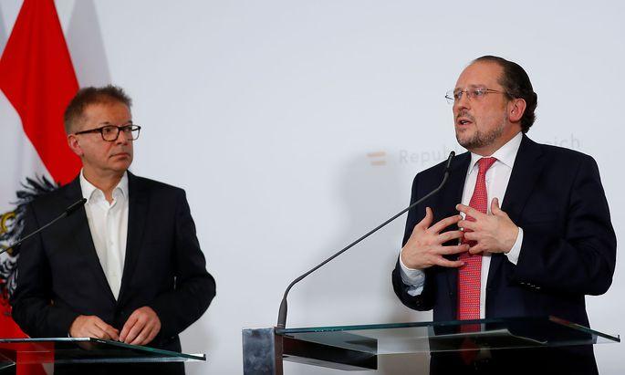 """Sozialminister Anschober und Außenminister Schallenberg sind in Sachen EU-Marinemission """"Sophia"""" nicht einer Meinung."""