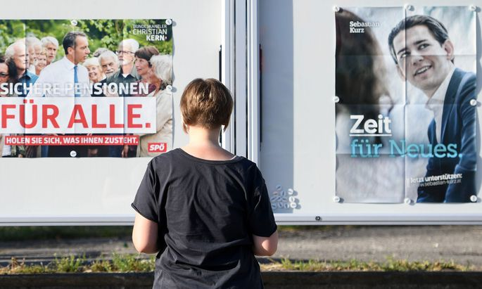 Plakate aus dem Nationalratswahlkampf 2017