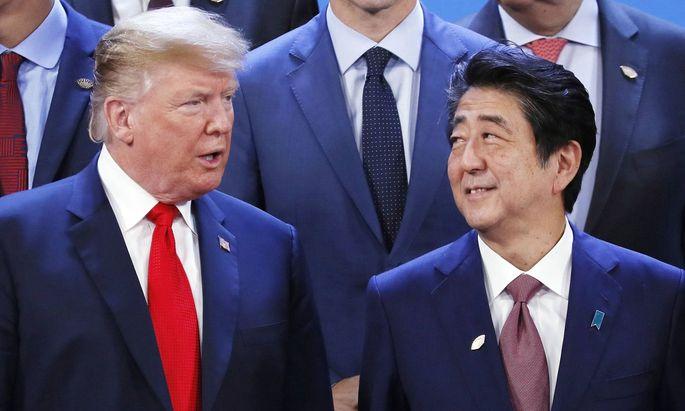 Vor dem Empfang für Bundeskanzler Kurz telefonierte Trump mit Abe