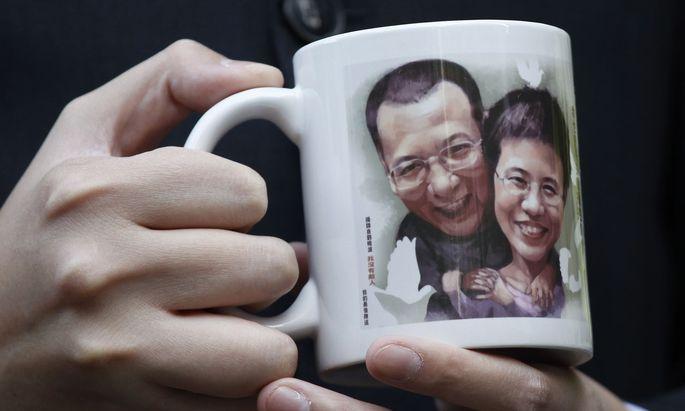 Andenken an Liu Xiaobo und seine Frau Liu Xia