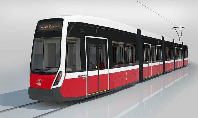 Visualisierung der neuen Flexity-Straßenbahn.