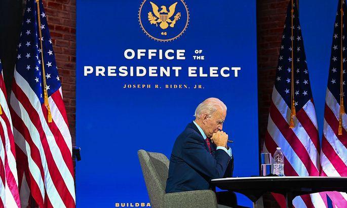 Joe Biden wird in zwei Monaten als US-Präsident vereidigt.