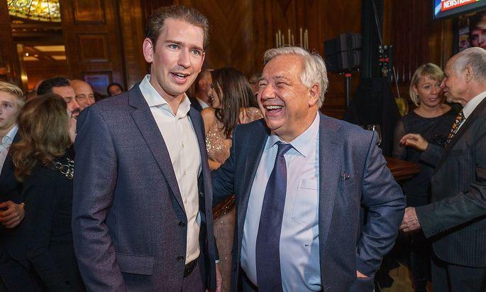 """Kurz und Fellner bei der Feier zu """"50 Jahre Fellner Medien""""."""