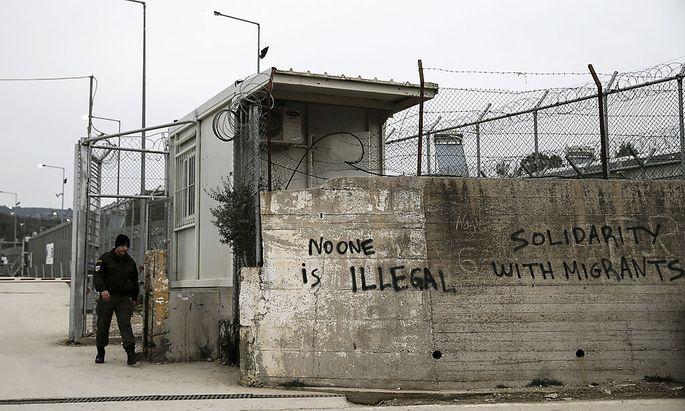Das ehemalige Gefängnis Moria auf Lesbos.