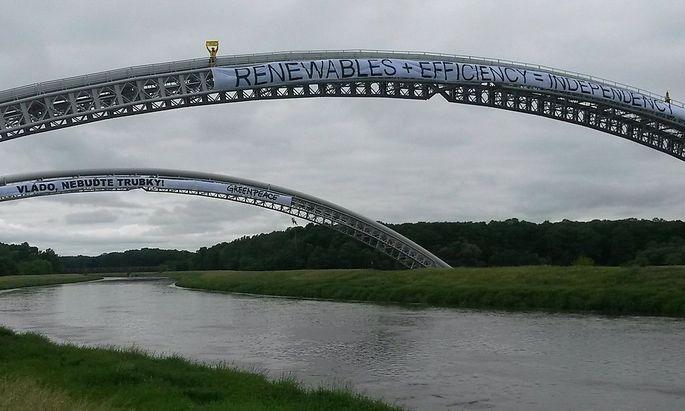 Greenpeace in Tschechien macht sich für Unabhängigkeit von russischem Gas stark.