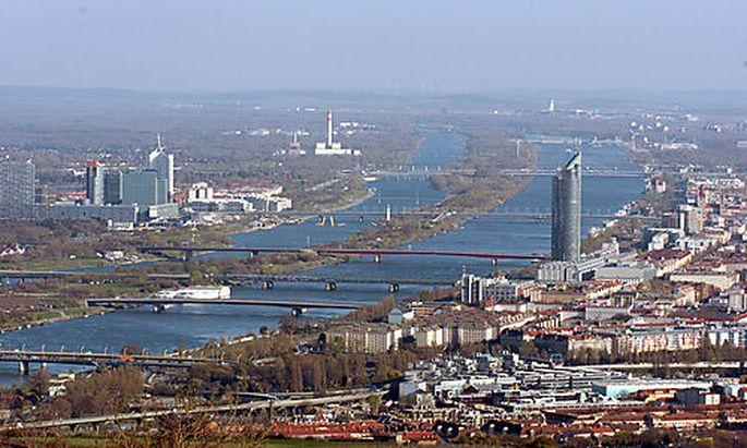 Kahlenberg, Aussichtsplattform, Blick auf Wien