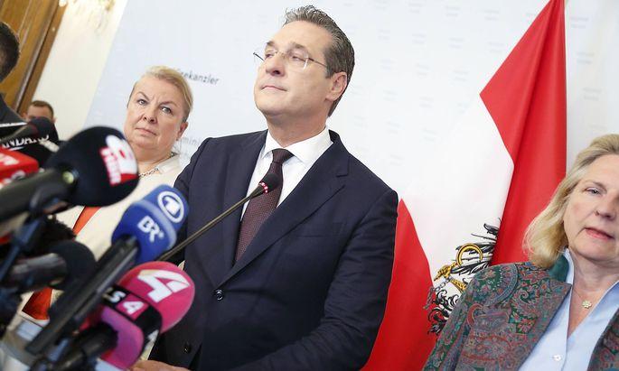 Ibiza Affaere Ruecktritt Vize Kanzler HC Heinz Christian Strache Wien Ballhausplatz Vizekanzleramt