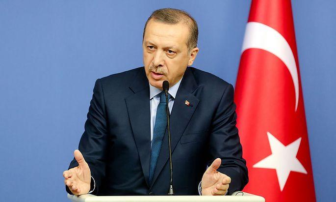 Der Türkische Ministerpräsident Erdogan bei seinem Besuch in Deutschland Ende Februar 2013.