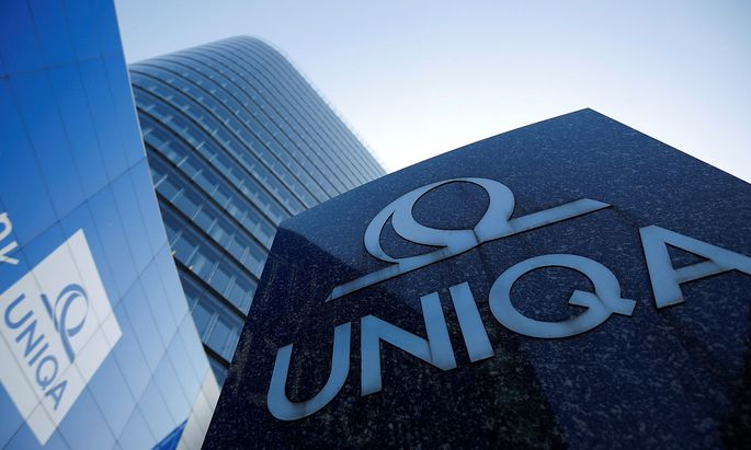 FILE PHOTO - The logo of the Austrian insurer Uniqa is seen in front of its headquarters in Vienna